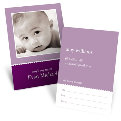 Scallops -- Violet Mommy Card