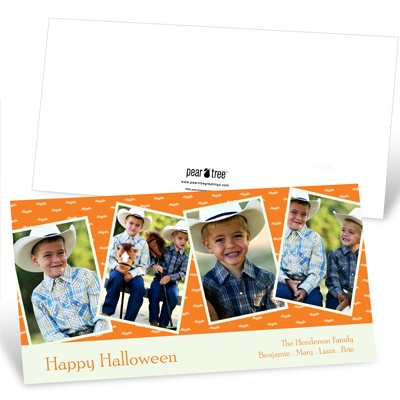 Batty Collage Halloween Photo Card