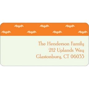 Batty Collage -- Halloween Address Label