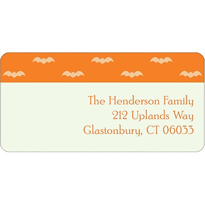Batty Collage Halloween Address Label