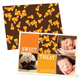 Sweet Collage -- Halloween Photo Card