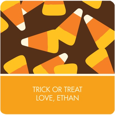 Trick or Treat Candy Personalized Stickers