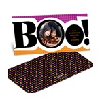 Boo! -- Ebony Halloween Photo Card