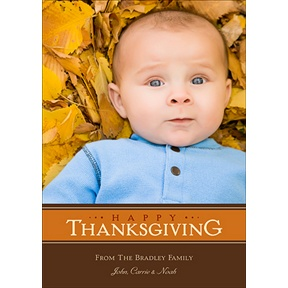 Thankful Stripes -- Photo Thanksgiving Card