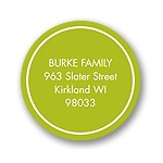 Solid Circle -- Green Address Label