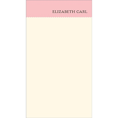 Scalloped -- Pink Personalized Note Card