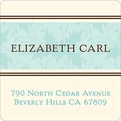 Soft Elegance -- Address Label