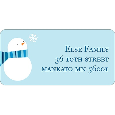 Cozy -- Blue Address Label