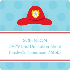 Fire Truck Fun -- Address Label