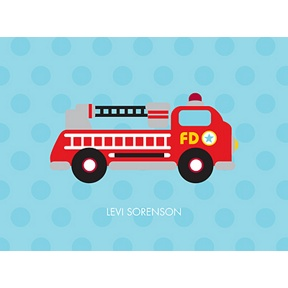 Fire Truck Fun -- Personalized Note Card