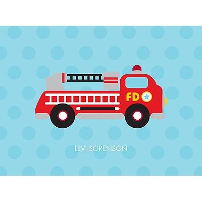 Fire Truck Fun Personalized Note Card