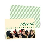 Cheers and Bursts -- Unique Photo Christmas Cards