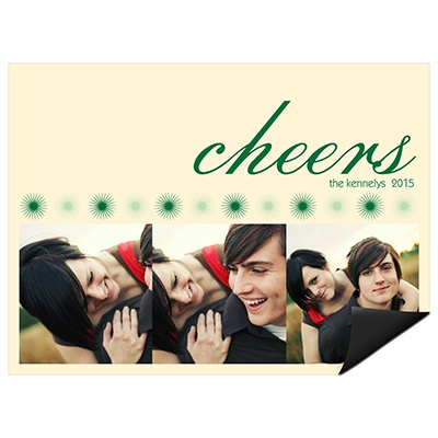 Cheers and Photos -- Christmas Card Magnets