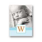 Tied with Love -- Blue Folded Personalized Note Card