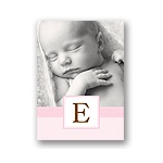Tied with Love -- Pink Folded Personalized Note Card