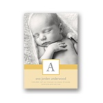Tied with Love -- Yellow Photo Birth Announcement