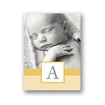 Tied with Love -- Yellow Folded Personalized Note Card