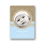 Soft Circles -- Blue Photo Birth Announcements