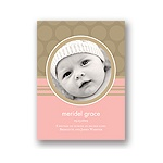 Soft Circles -- Pink Photo Birth Announcements
