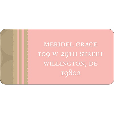Soft Circles -- Pink Address Labels