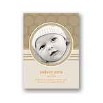 Soft Circles -- Tan Photo Birth Announcements