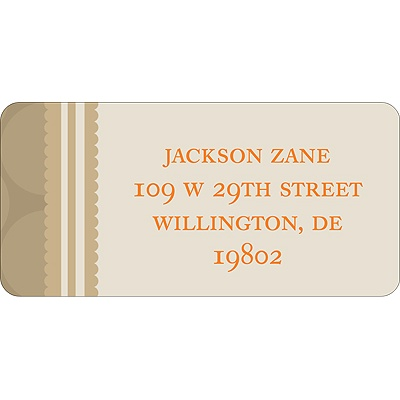 Soft Circles -- Tan Address Labels