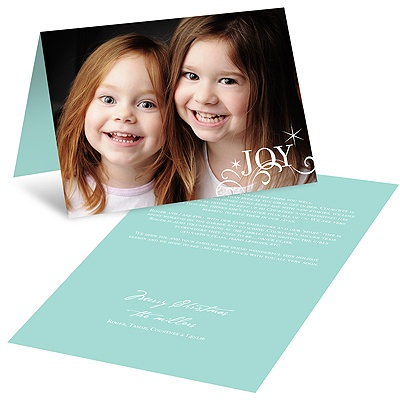 Horizontal Sparkling Holiday Letter -- Holiday Photo Cards