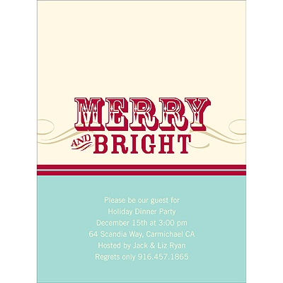 Simply Merry -- Holiday Party Invitations