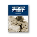 Simply Merry in Blue -- Holiday Photo Cards