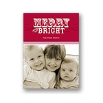 Simply Merry in Red -- Photo Christmas Cards