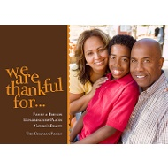 We Are Thankful Photo Thanksgiving Card