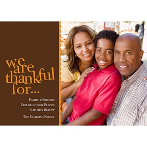 We Are Thankful -- Photo Thanksgiving Card