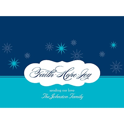 Stars of Faith -- Holiday Card