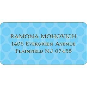 Modern Dots -- Blue Address Label