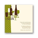 Holiday Cheer -- Green Holiday Party Invitation