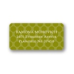 Modern Dots -- Green Address Label