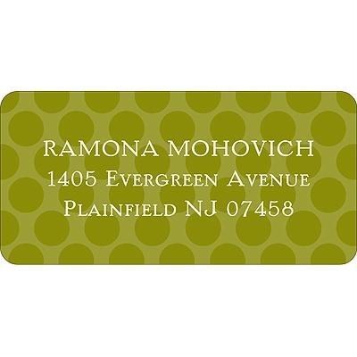 Modern Dots Green Address Label