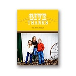 Simple Thanks -- Yellow Photo Thanksgiving Card