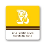 Simple Monogram -- Yellow Address Label