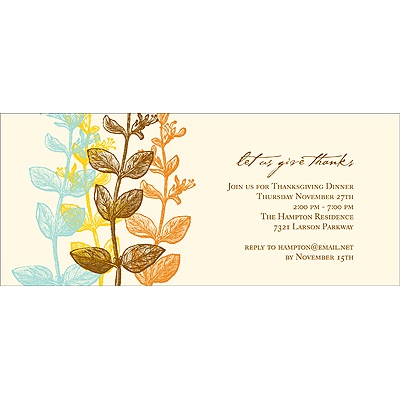 Elegant Gratitude -- Thanksgiving Invitation