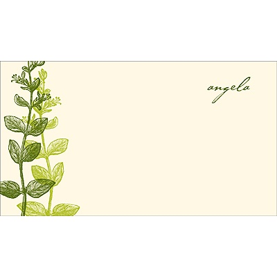 Elegant -- Green Personalized Note Card