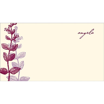Elegant -- Purple Personalized Note Card
