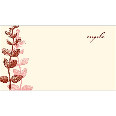 Elegant -- Red Personalized Note Card