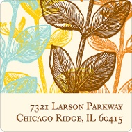 Elegant Floral Address Label