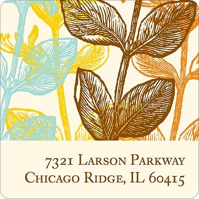 Elegant Floral Address Label