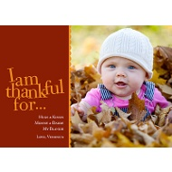 I Am Thankful Photo Thanksgiving Card