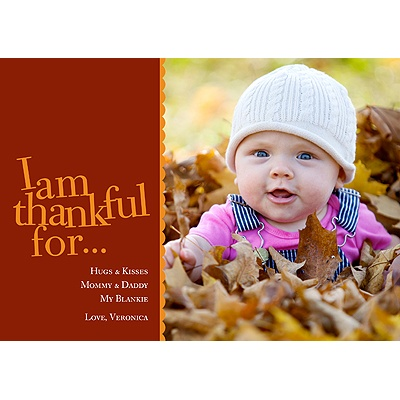 I Am Thankful -- Photo Thanksgiving Card