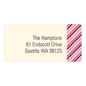 Thin Stripes In Red -- Christmas Address Labels