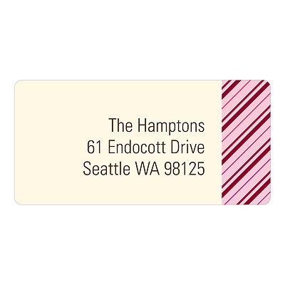 Thin Stripes In Red Christmas Address Labels