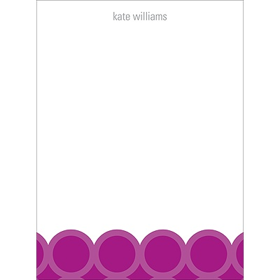 Bright Rings -- Personalized Note Card